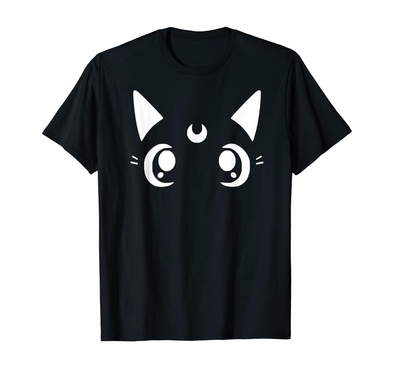 Cute Cat Crescent Moon Sailor Mom Kawaii Neko T-Shirt