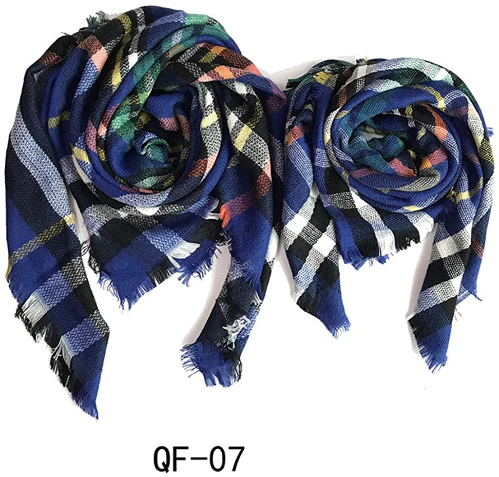 Mother Daughter Matching Scarfs Mommy and Me Scarf Set Plaid Square Scarf Towel Winter Activity Scarf Tartan Scarf Wrap Shawl