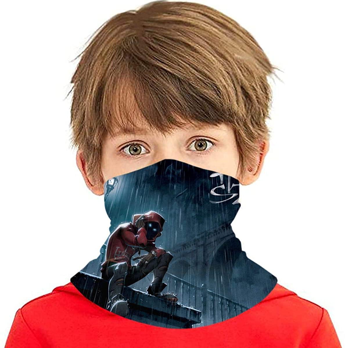 Hoodie Szn Kids Bandana Ear Loops Neck Gaiter Scarf Dust Uv Protection For Boys Girls