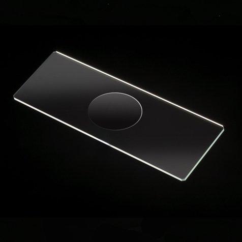 Microscope Slides, Glass, 25 x 75mm, 90° Ground Edges with Safety Corners, Single Cavity, 72/Box, Box of 72