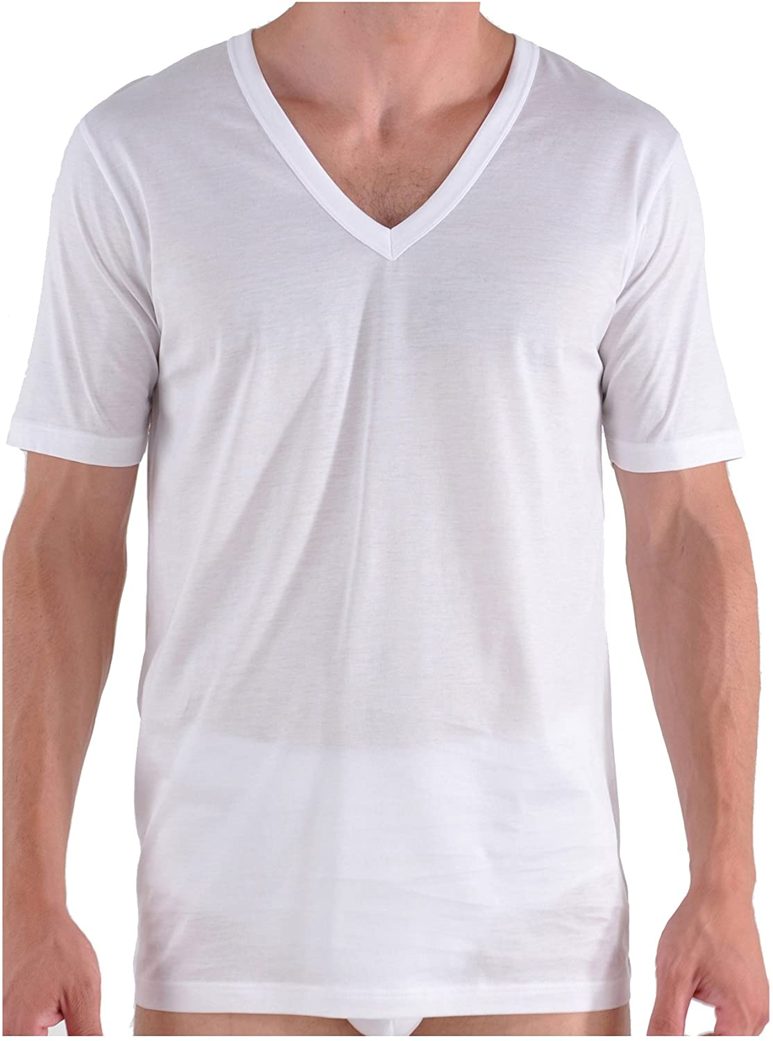 Bresciani Supremo Reale 2x2 Egyptian Cotton Italian-Made V-Neck Undershirt