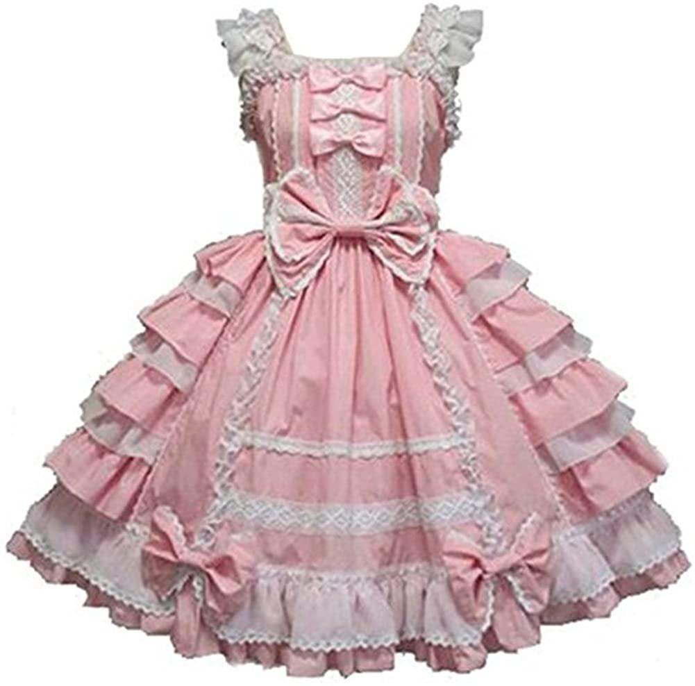 Smiling Angel Girls Sweet Lolita Dress Princess Lace Court Skirts Cosplay Costumes