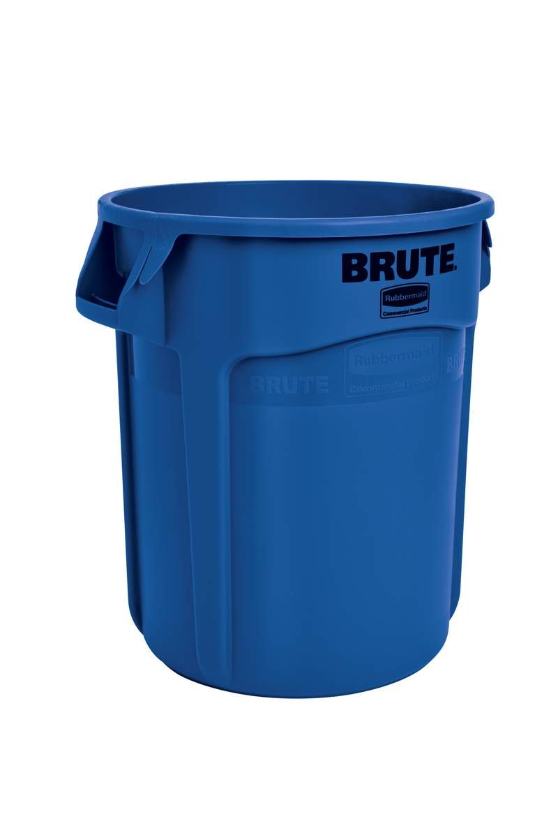 Rubbermaid Commercial BRUTE Heavy-Duty Round Trash/Garbage Can, 20-Gallon, Blue (6-Pack)(FG262000BLUE)