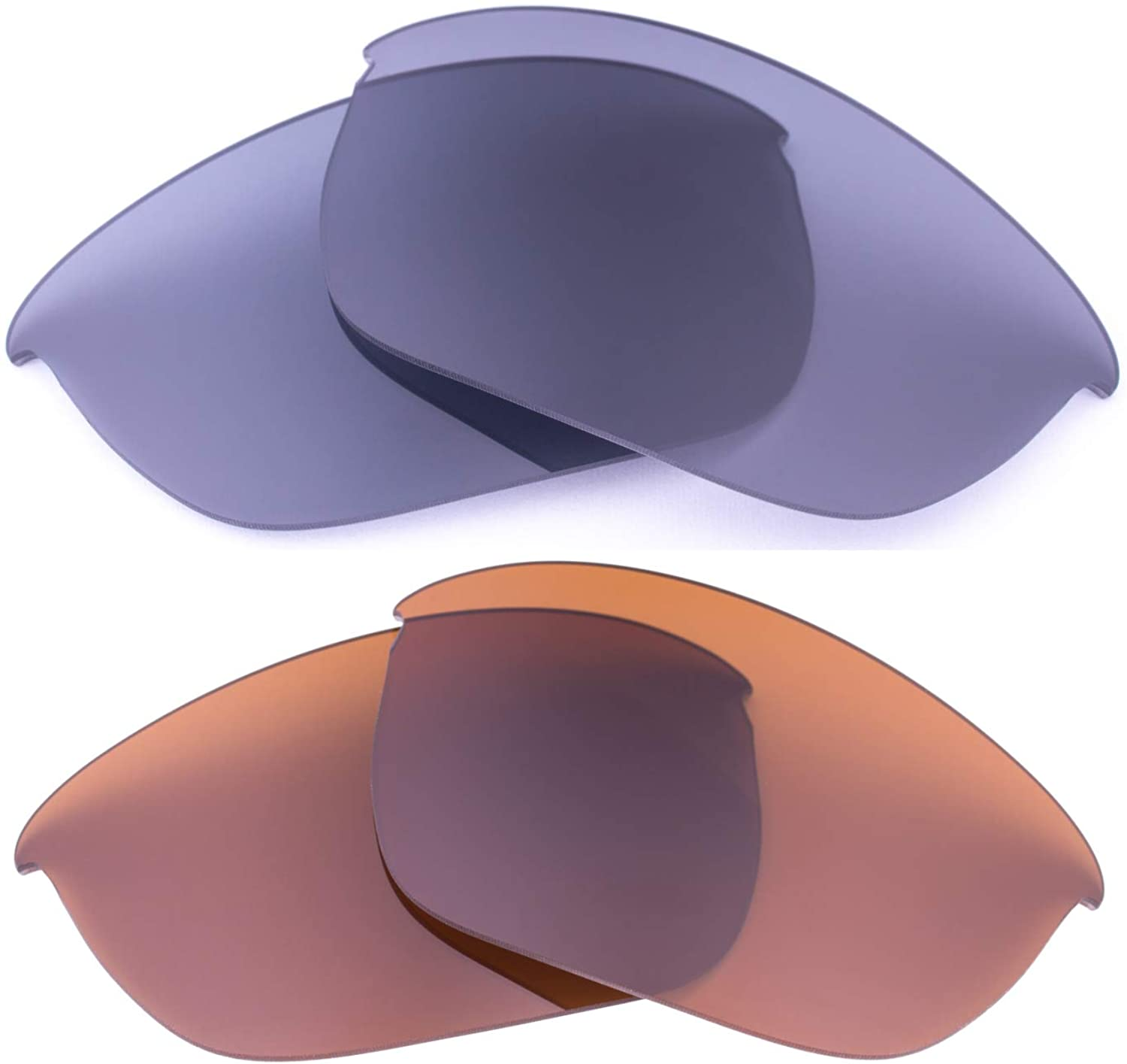 LenzFlip Replacement Lenses for Oakley Half Jacket 2.0 - Crafted in the USA (2pack(Light Grey/Brown)
