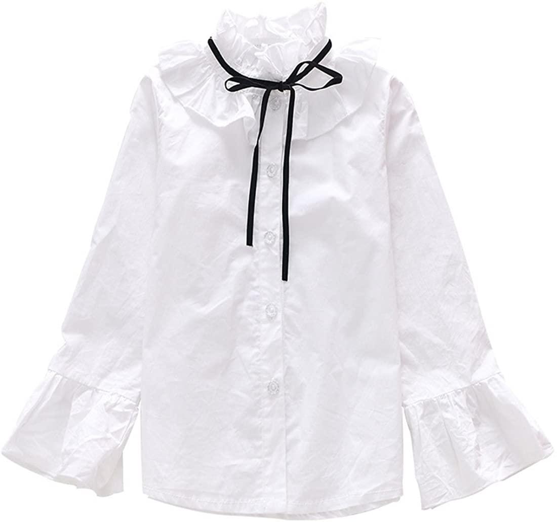 MV Children's Clothing Korean Korean Loudspeaker Sleeved Lotus Blouse Girl's Shirt