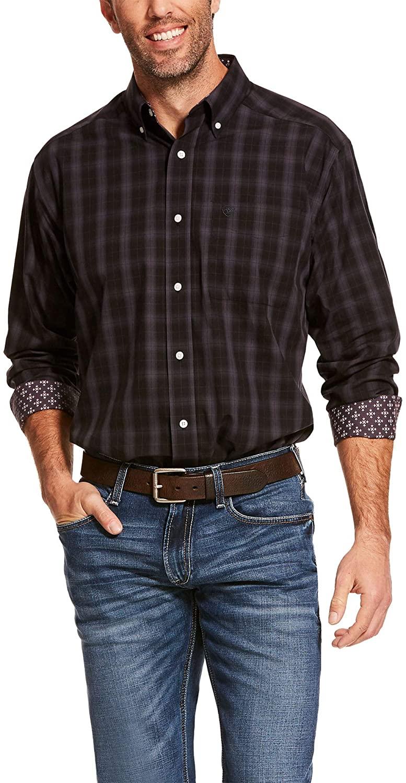 ARIAT Men's Wrinkle Free Clayborne Classic Fit Shirt