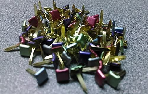 Pearl Colored Mini Square Brads - Bulk 100ct