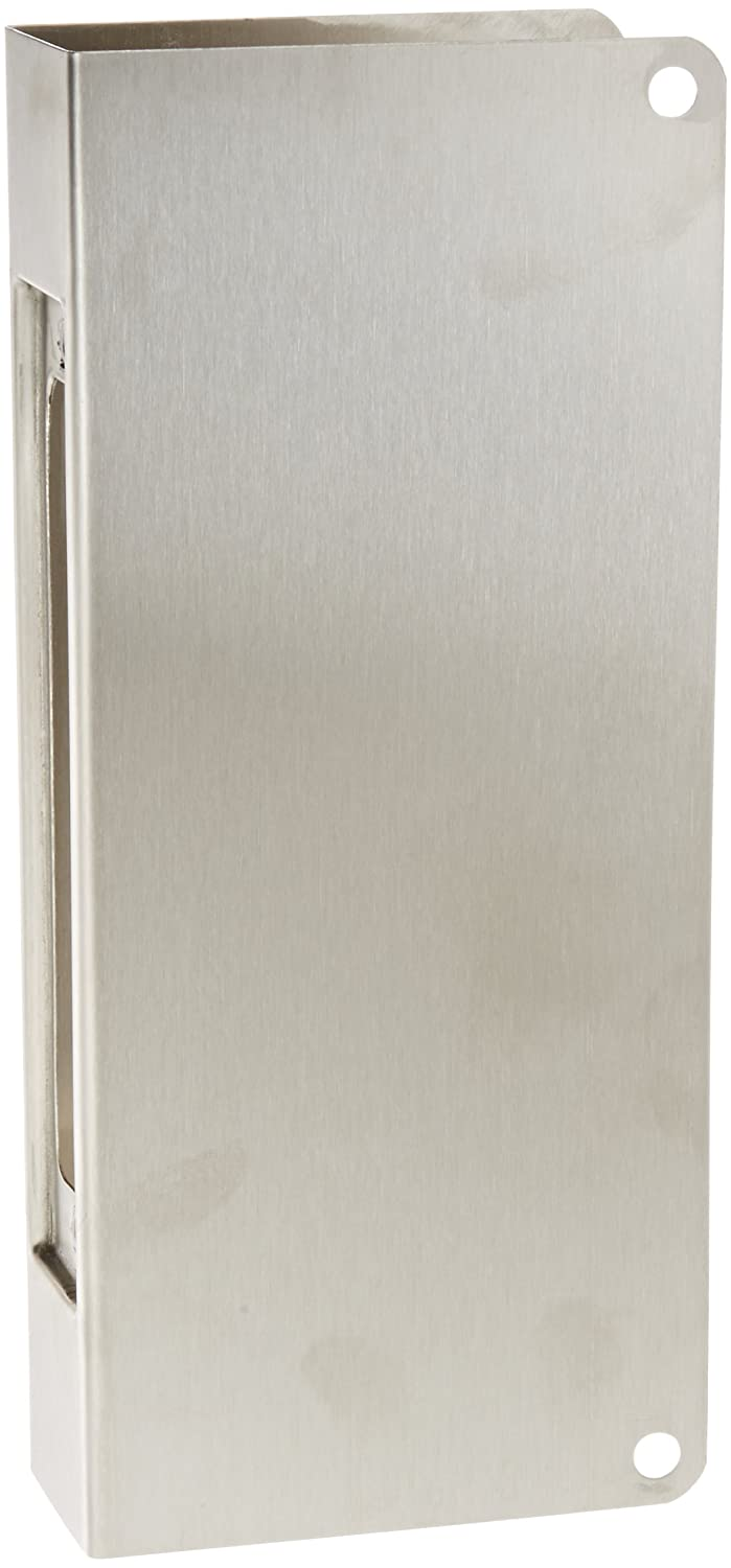 Don-Jo 504-CW 22 Gauge Stainless Steel Mortise Lock Wrap-Around Plate, Satin Stainless Steel Finish, 5