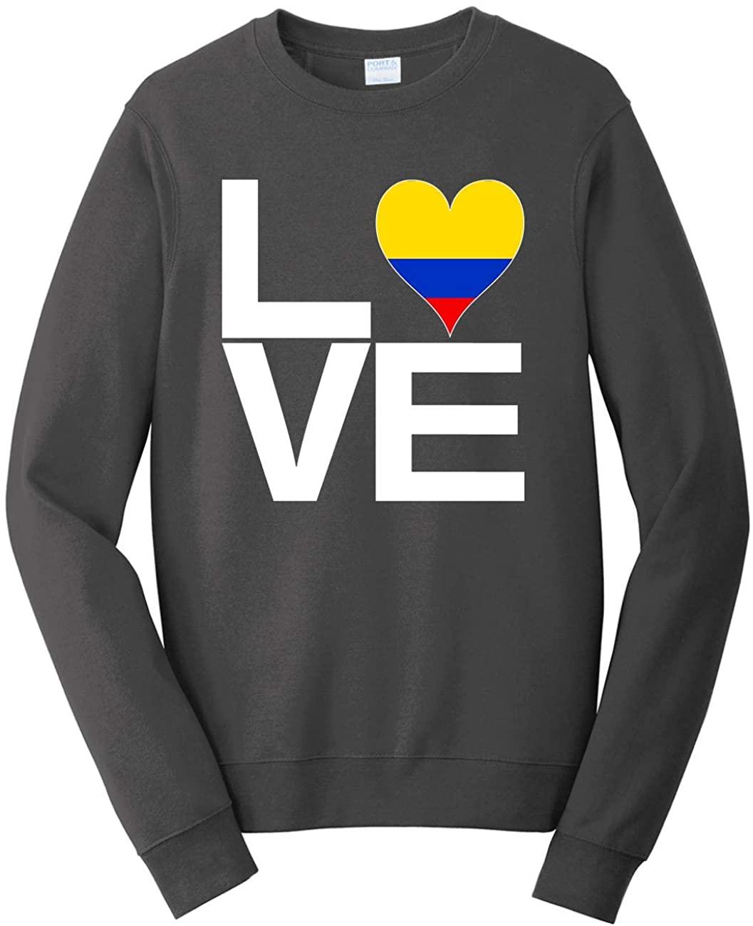 Tenacitee Unisex Love Block Colombia Heart Sweatshirt