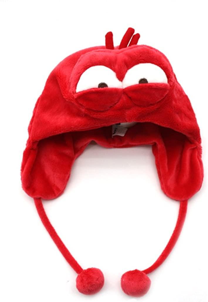 Cartoon Larva red Doll Figure Hat Cap Earmuffs Pretend Play Costume Incredible Comic Show Larva