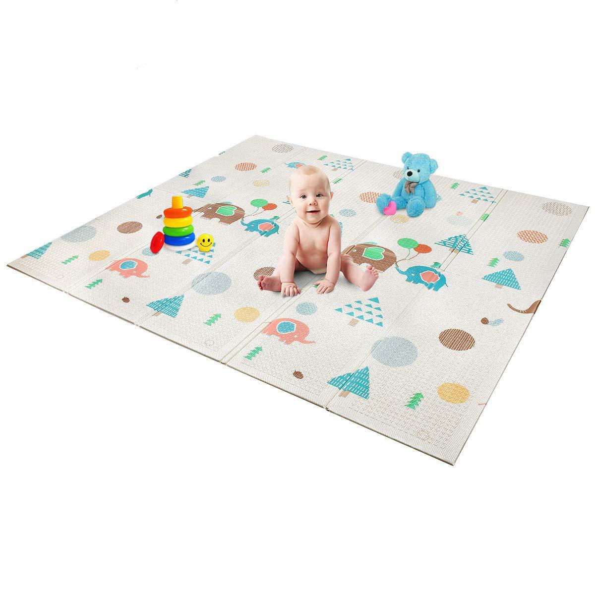 Foldable Play Mat | Non- BPA Non-Toxic Foam Baby Playmat 79