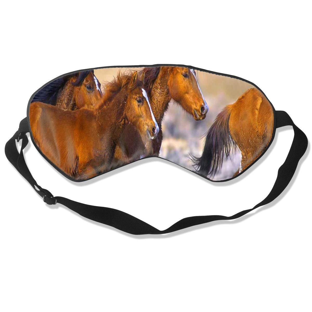 Custom Sleeping Mask Herd Of Horses Adjustable Breathable Sleep Mask/Sleeping Eyes Mask/Sleep Eyes Mask/Eyeshade/Blindfold