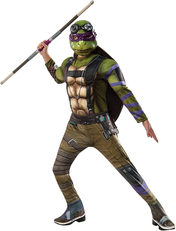 Rubie's Costume Kids Teenage Mutant Ninja Turtles 2 Deluxe Donatello Costume, Large