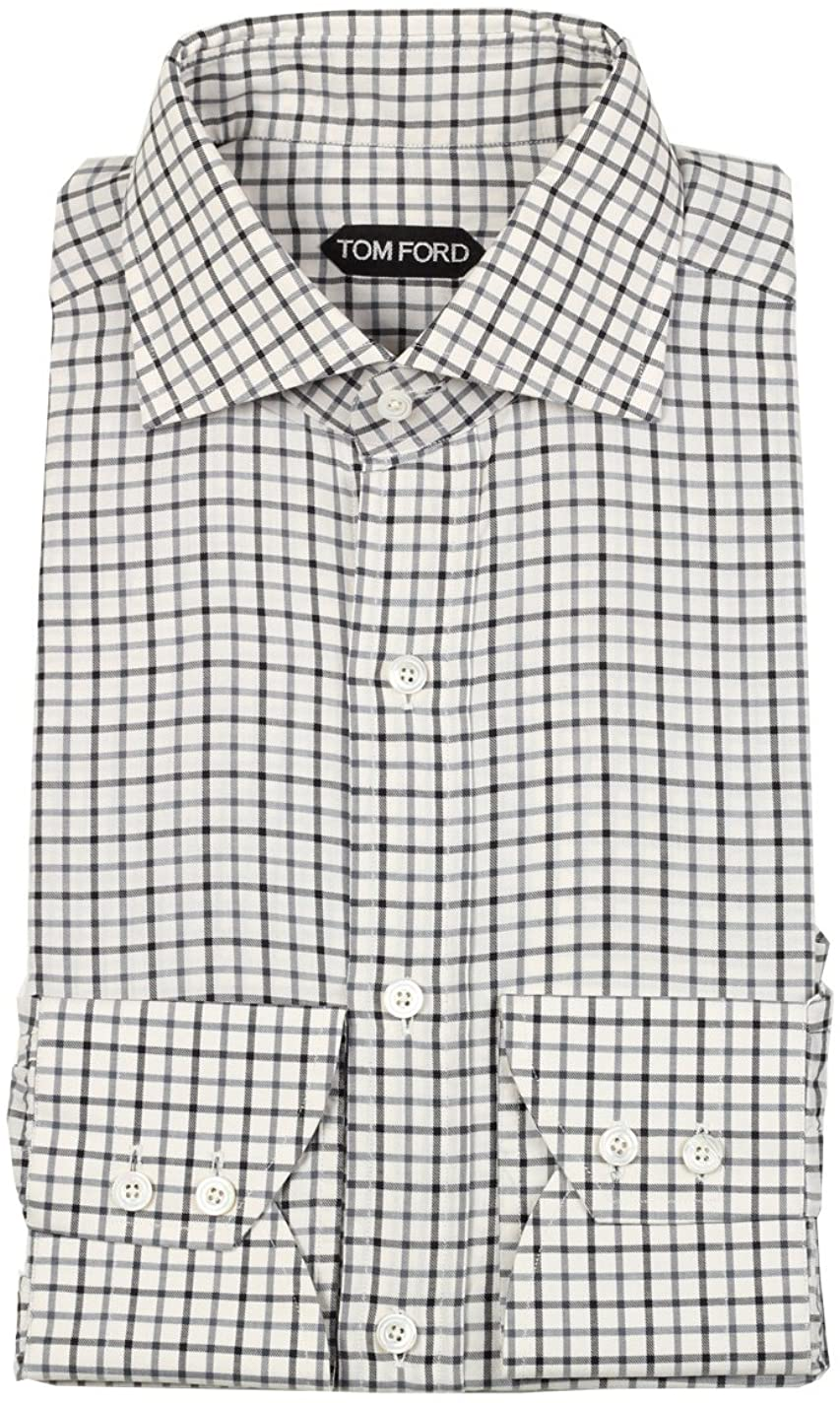 Tom Ford CL Checked White Blue Shirt Size 39/15,5 U.S.