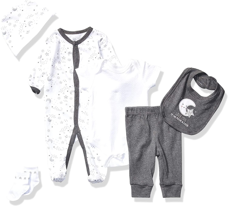 Rene Rofe Baby Kids' Little Newborn 3 Piece Long Sleeve Bodysuit, Pant and Bib Set, Dog, 3-6 Months