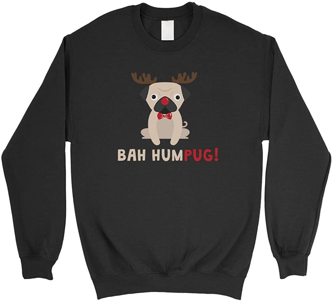 365 Printing Bah Humpug Christmas Black Sweatshirt