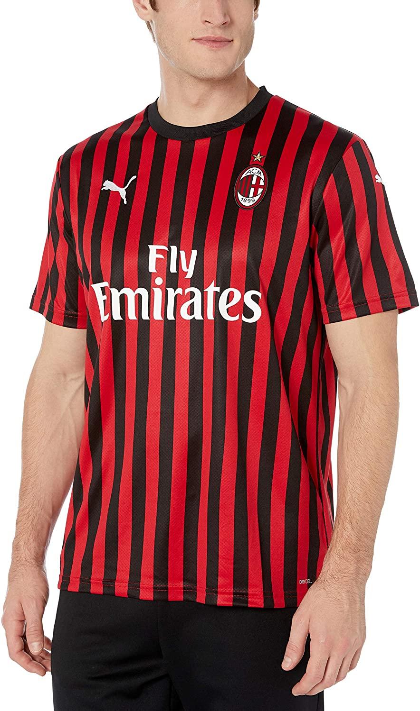 PUMA Men's A.c. Milan ACM Home Shirt Replica with Sponsor Logo