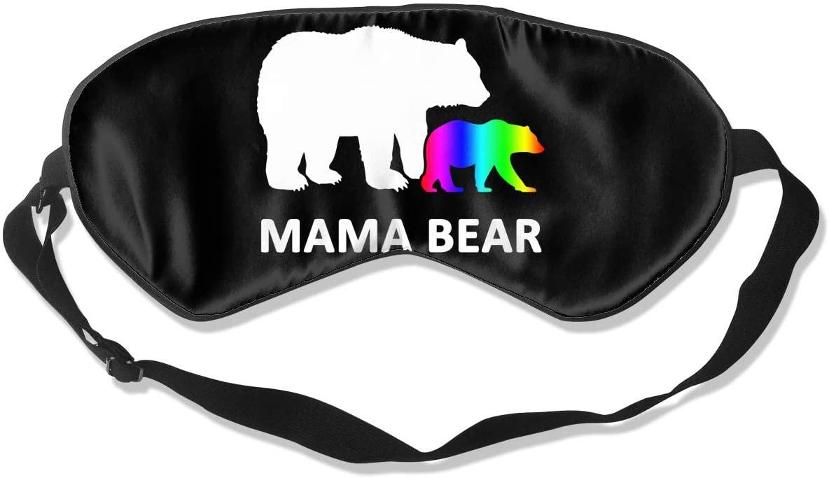LGBT Mom Bear Eye Mask Sleeping Mask 100% Double-Sided Silk Eyeshade Eye Cover