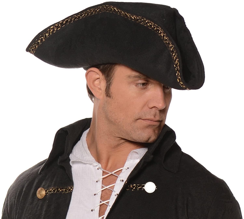 UNDERWRAPS Adult Costume Pirate Hat - Black