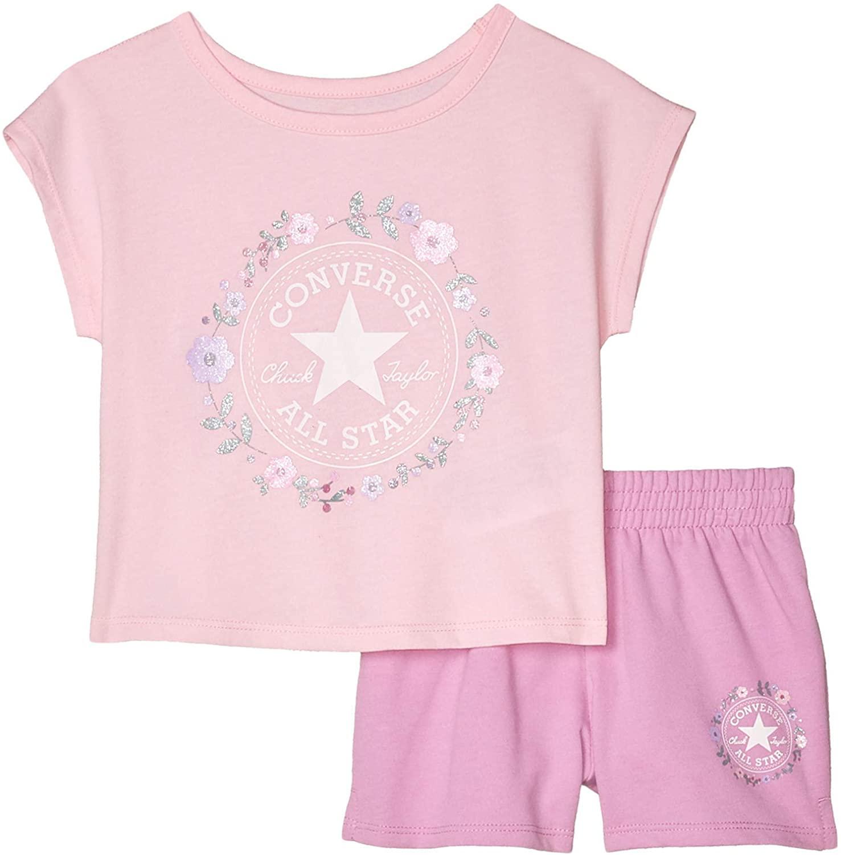 Converse Kids Baby Girl's Chuck Patch T-Shirt & Shorts Set (Toddler)