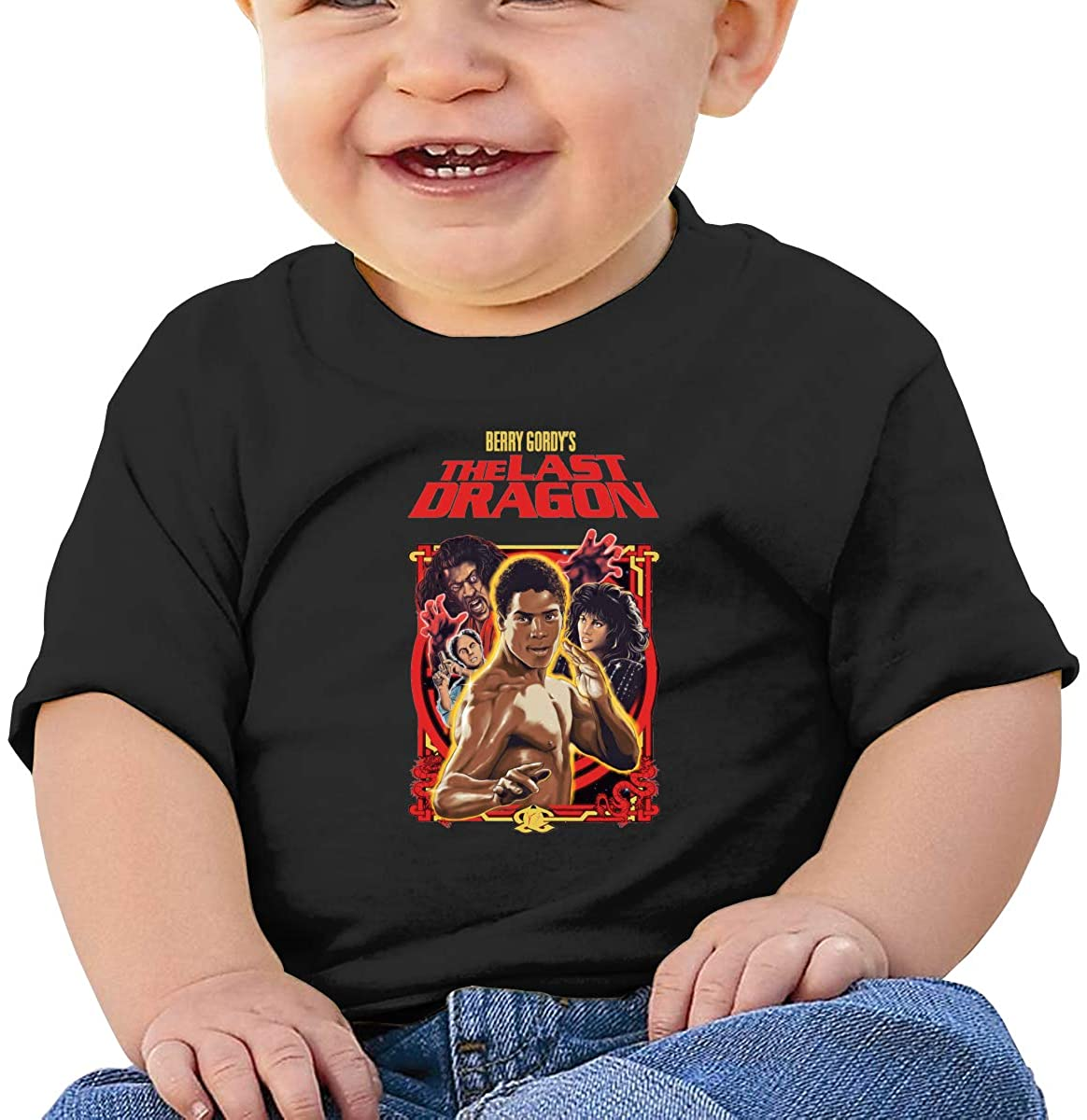 Baby T-Shirt Cute Infant Home The Last Dragon Martial Graphic Toddler T Boys and Girls Soft Short Sleeve Cotton Kids Shirt