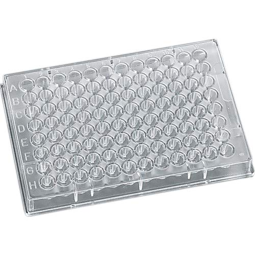 J.G. Finneran 210004 96-Well Polystyrene Assay Plate, V Bottom, 150µL Working Capacity, 200µL Maximum Capacity, Clear (Pack of 100)