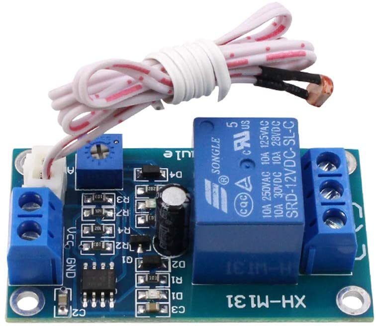 Stayhome 1pcs XH-M131 DC 5V / 12V Light Control Switch Photoresistor Relay Module Detection Sensor 10A Brightness Automatic Control Module