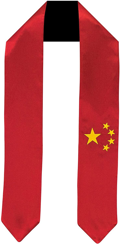 China Flag Graduation Sash/Stole International Study Abroad Adult Unisex