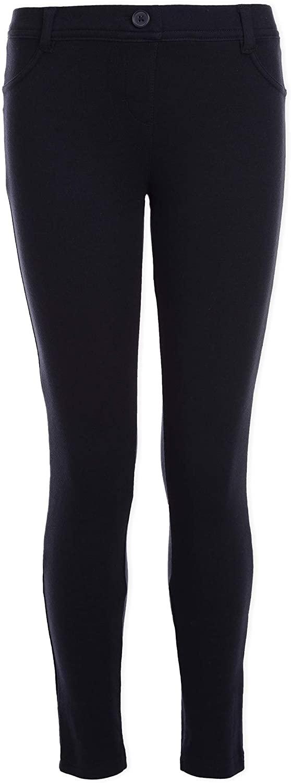 Nautica Plus Girls' School Uniform Stretch Interlock Legging