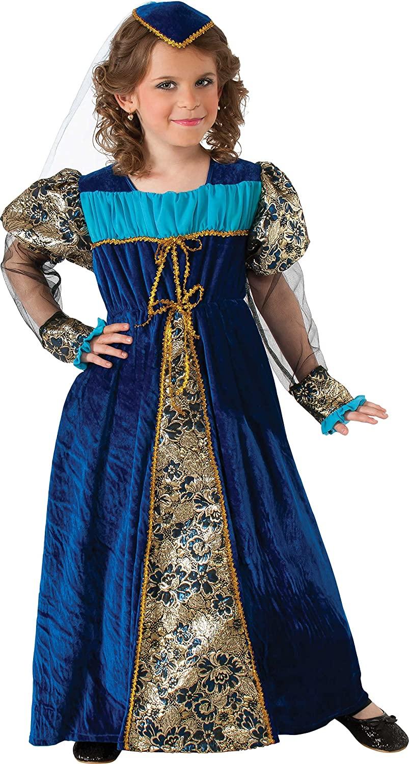 Rubies Camelot Princess Costume, Blue, Childs Small