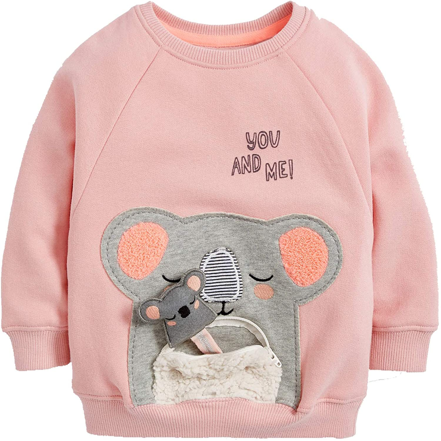 Toddler Baby Little Girl's Clothes Sweatshirt,Cotton Long Sleeve Crew Neck Cute Top Outfit