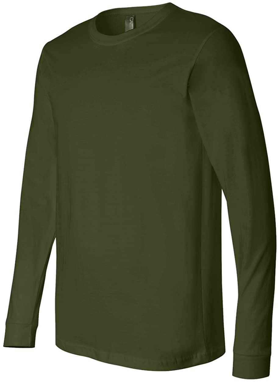 Bella mens Jersey Long-Sleeve T-Shirt (3501) OLIVE