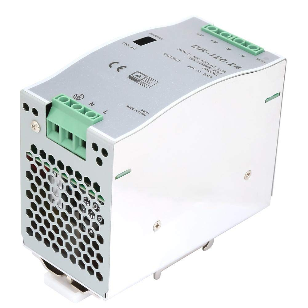 Single Output Power Supply, 120W Output Wattage Automatic Reset Mode Industrial DIN Rail Power Supply, Industrial Equipment Contorl Stable Output