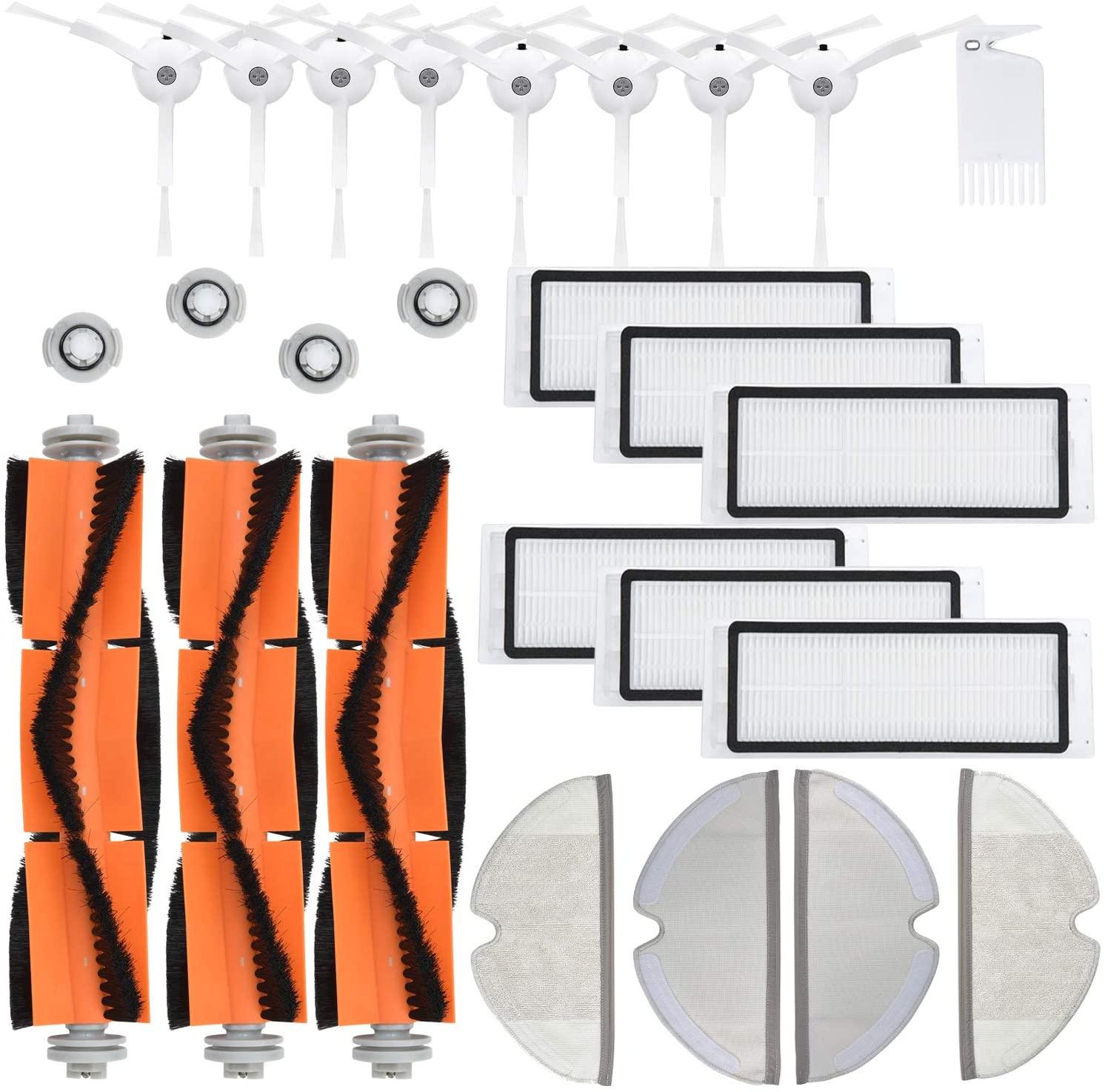 JoyBros 26-Big-Pack Replacement Parts Compatible for Xiaomi Roborock S5 S5 MaxS6 S60 S65 S5 S50 S55 E25 E35 Filter Mop Brush Accessories Vacuum Cleaner Replenishment Kit