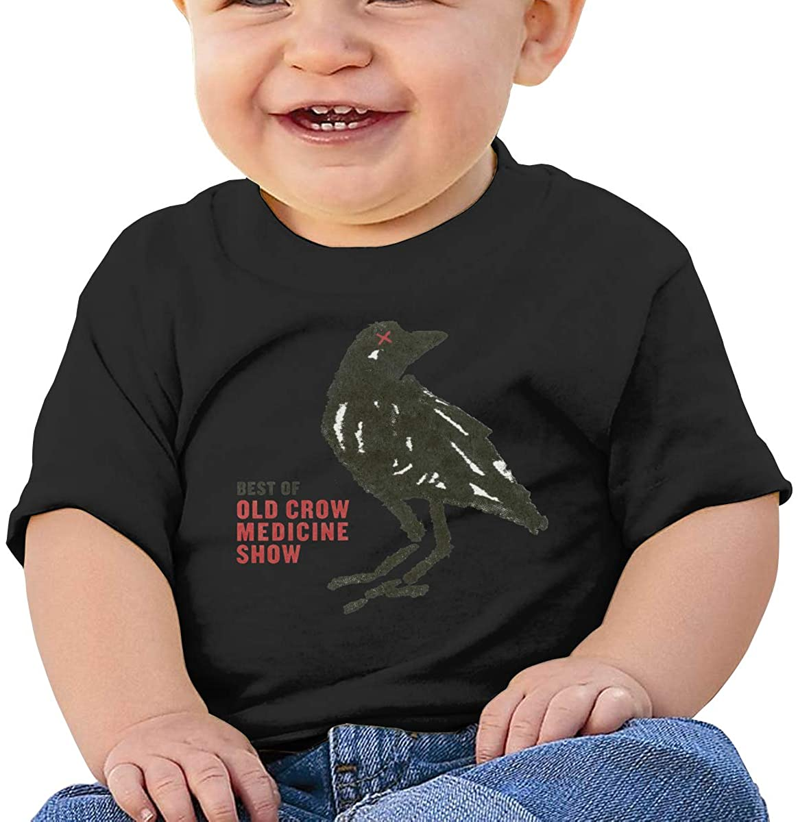 Cute Art Short-Sleeved Style Unique Old Crow Medicine Show Baby T-Shirt