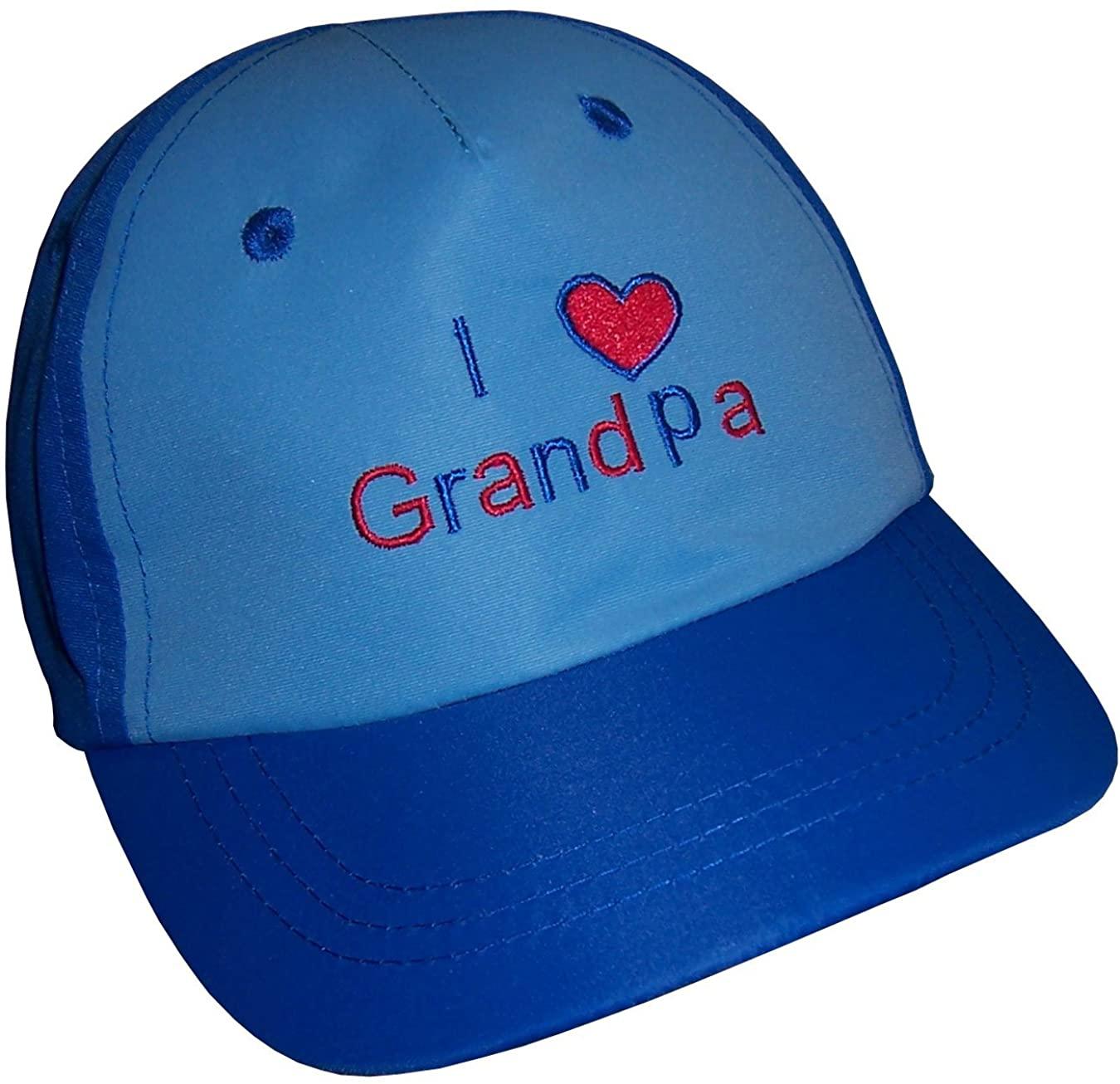 N'Ice Caps Baby and Toddler I Love Grandpa/Grandma Embroidered Ball Caps