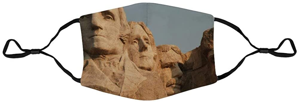 Face Protection Mount Rushmore Sculpture Massive Dakota Face Protection Unisex Adjustable Breathable Dustproof Mouth Cover