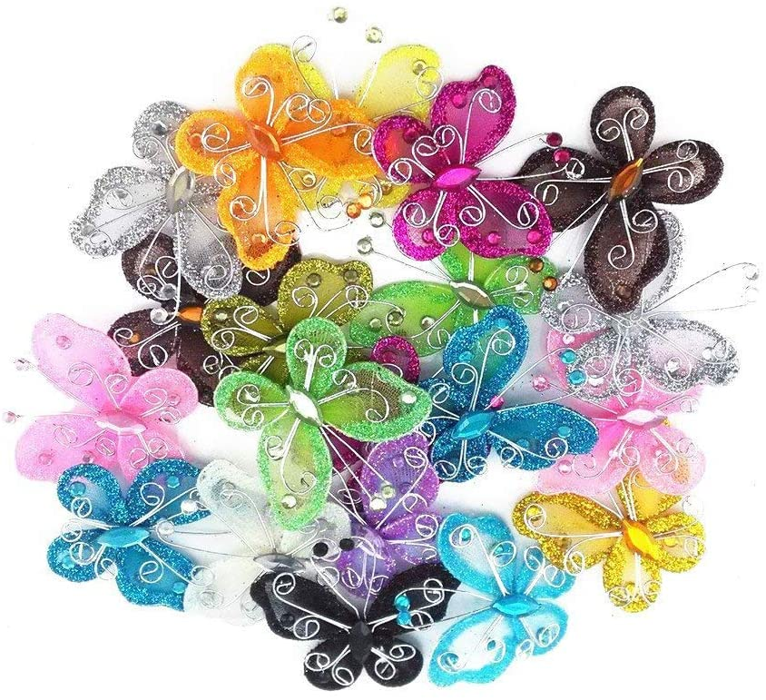Assorted Colors 40-Pack Mash Butterflies 2