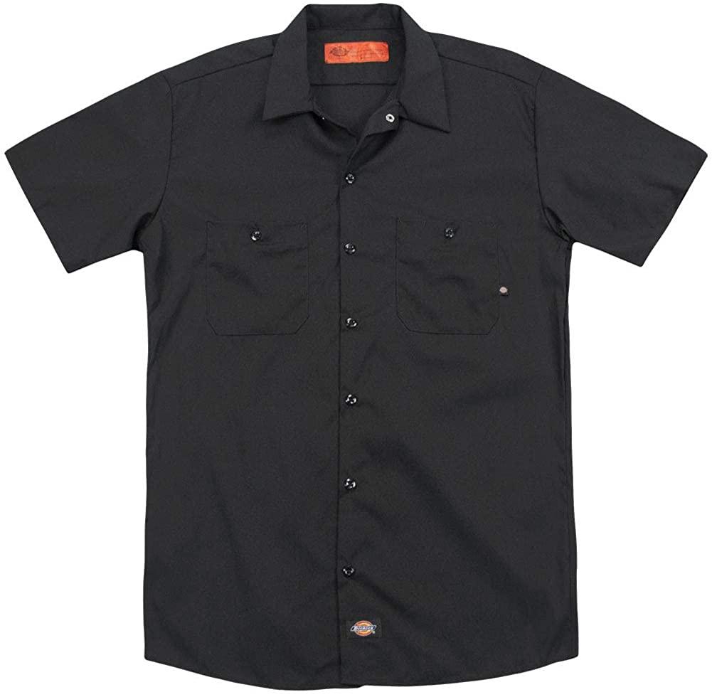 Kiss Men's Rock and Roll Heads (Back Print) Work Shirt Black