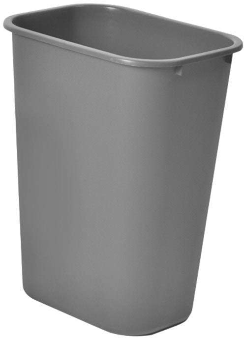 Garbage Trunk Small Trash Can Solid Color No Cover Garbage Can Hotel Room Commercial Waste Bin Anti-Slip Durable Junk Folders Bathroom Trash Can (Color: Gray Size: 38.6 28 50 cm)