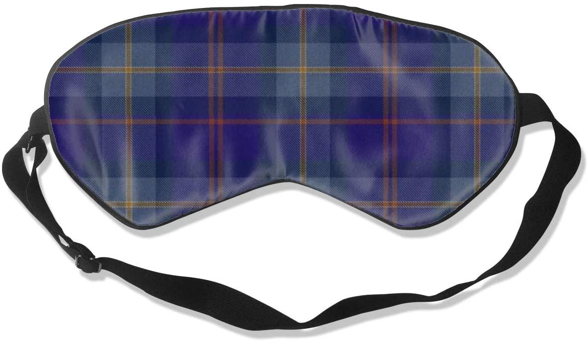 Sleep Eye Mask For Men Women,Blue Tartan Soft Comfort Eye Shade Cover For Sleeping