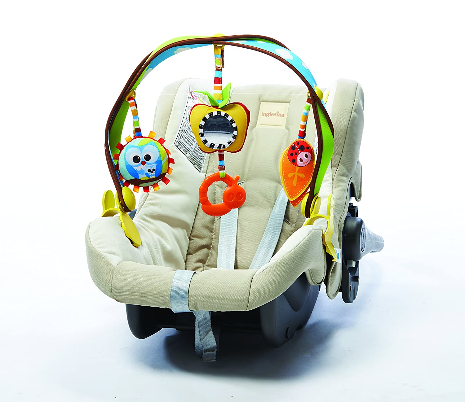 Tiny Love Woodland Take-Along Arch, Stroller Activity Arch, 0 month +, Universal Clips fit any Pram, Pushchair or Baby Car Seat
