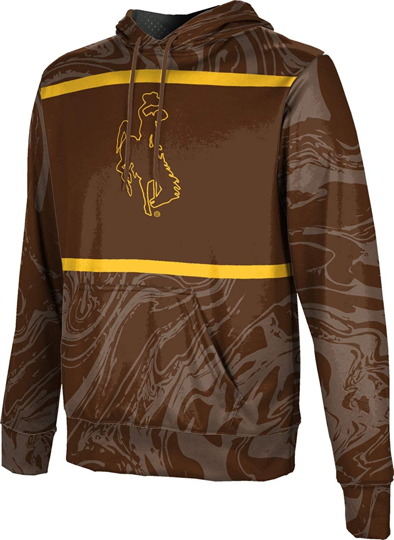 ProSphere University of Wyoming Boys' Pullover Hoodie, School Spirit Sweatshirt (Ripple)