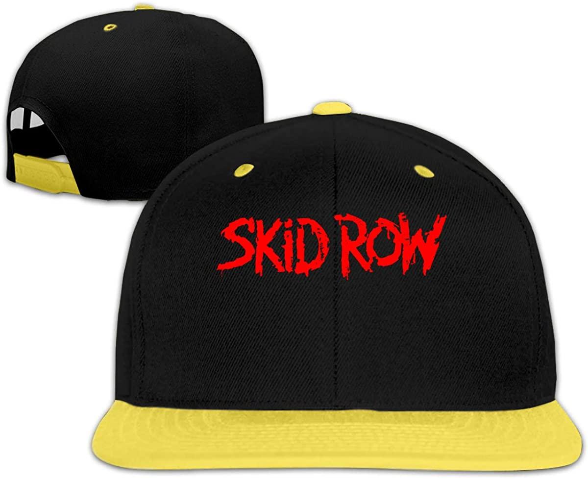 N/D Skid Row Children's Hip-Hop Baseball Cap, Adjustable Cap, Boys and Girls Yellow