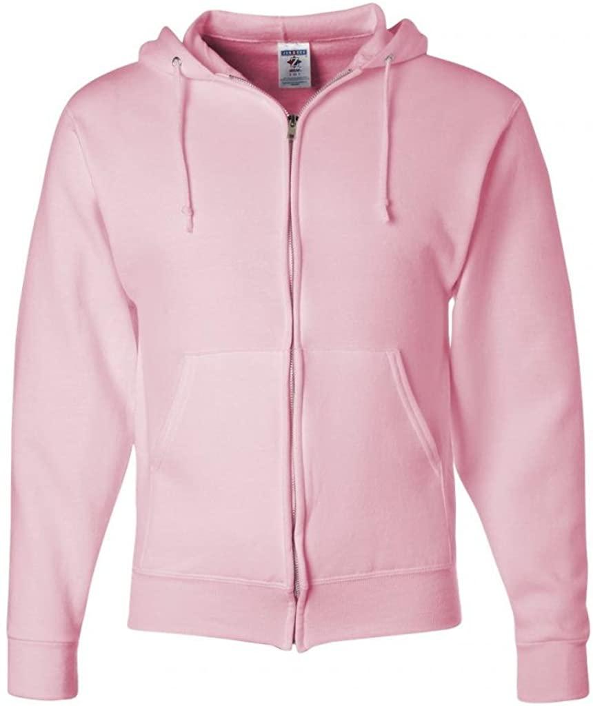 Jerzees Z NuBlend Full-Zip Hoody Hoodie Hooded Sweatshirt - Pink