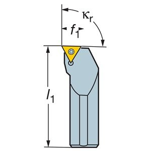 Sandvik Coromant DCBNL 3225P 16 Turning Insert Holder, Rectangular Shank, Steel, External, Rigid Clamp, Left Hand, 32mm Width x 25mm Height Shank, 170mm Length x 22mm Width, CNMG 543 Insert Size
