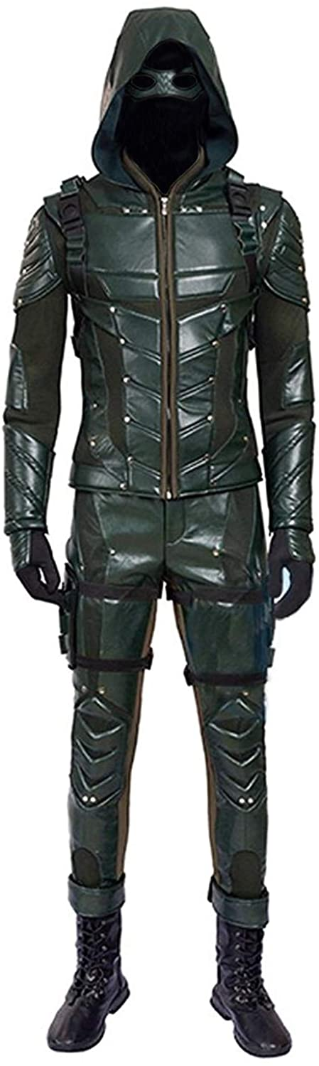Hot TV Series Mens Archer Green Costume with Accessories Mens Halloween Costume
