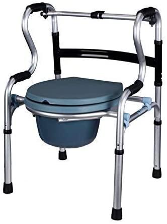 HTLLT Storage Rack Serving Cart Disabled Person Adjustable Aluminum Alloy Elderly Folding Walker Adult Walker