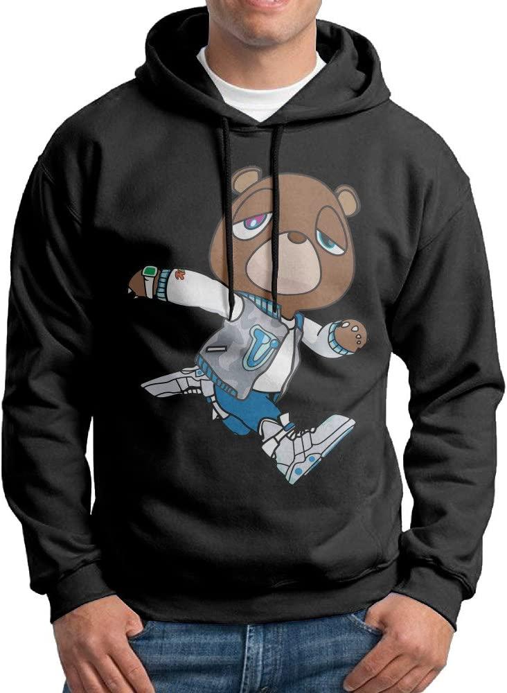 Edgechic Kanye West Bear Male Pullover Black Hoody