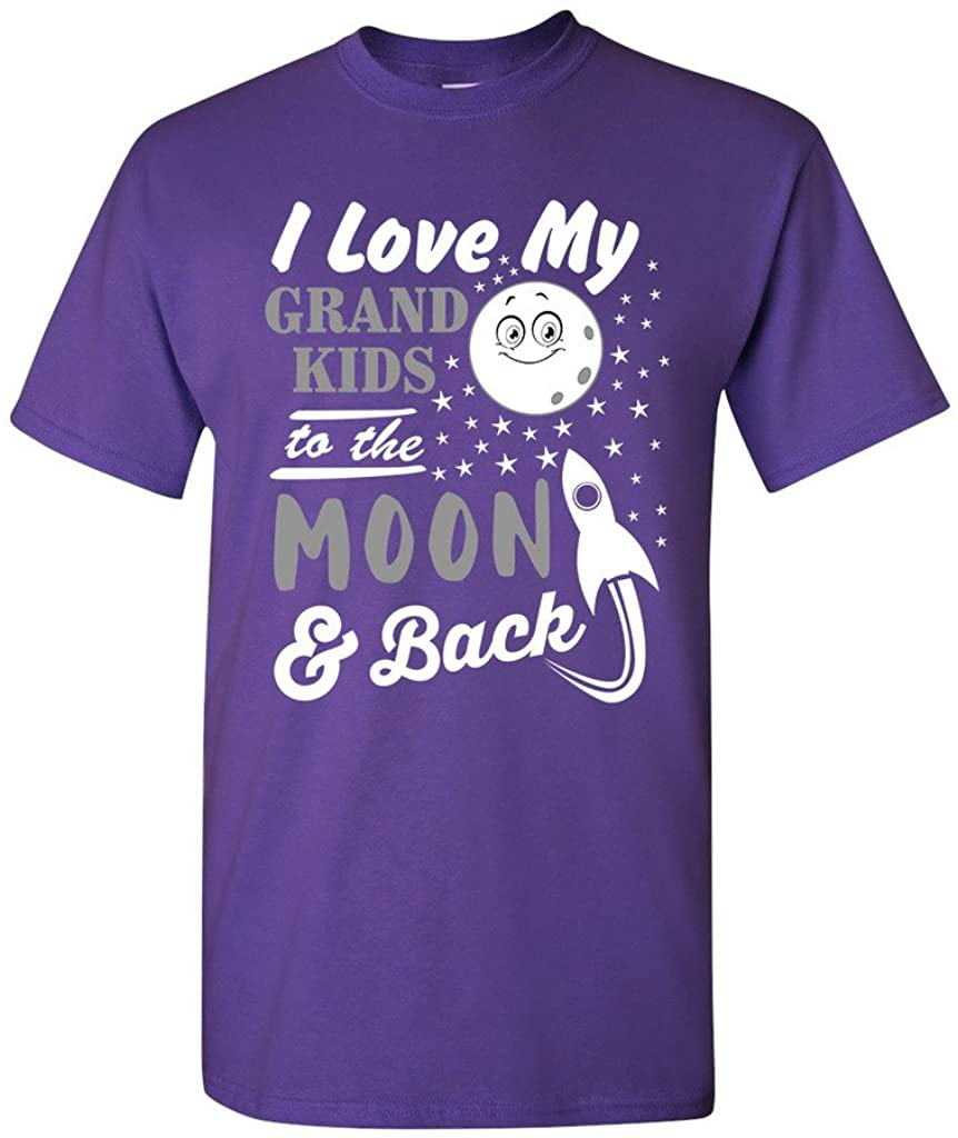 I Love My Grand Kids to The Moon and Back Funny Humor DT Adult T-Shirt Tee